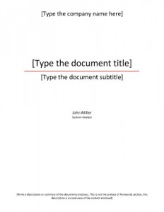Formal-title-Sample Title page template