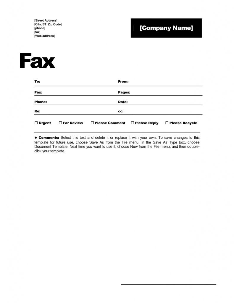 PDF-Sample Creative Fax Cover Page Templates