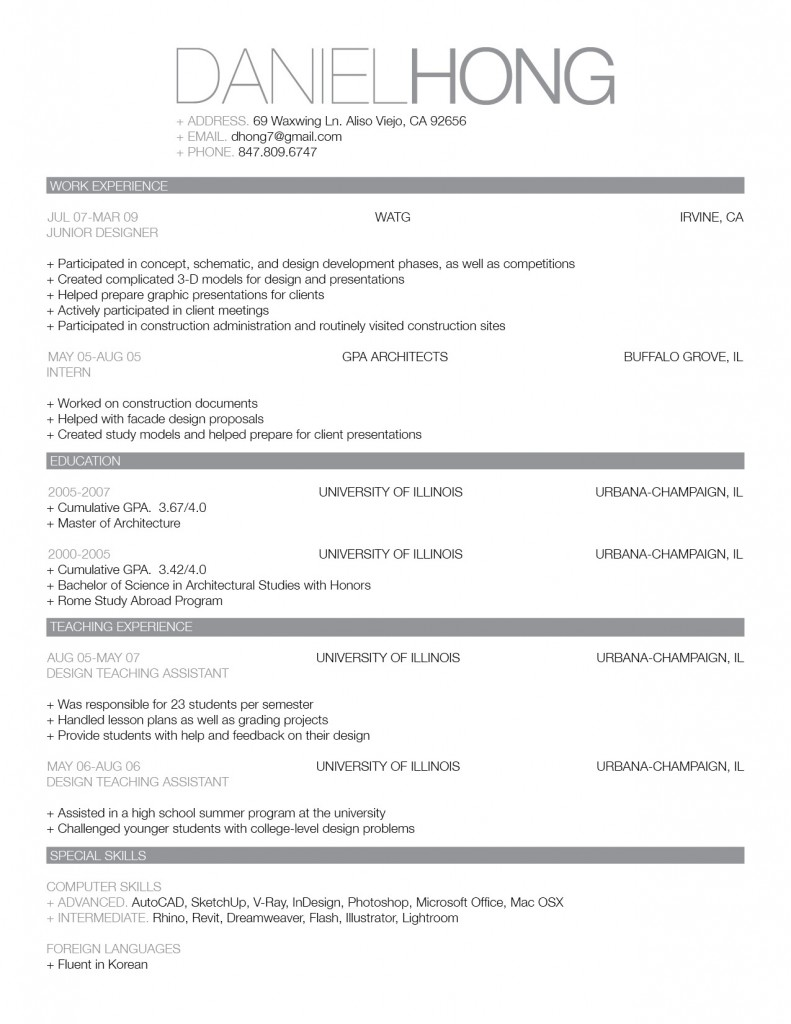 7 Sleek Sample Resume templates