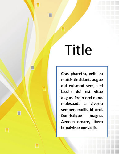 Professional-Sample Cover Page Template