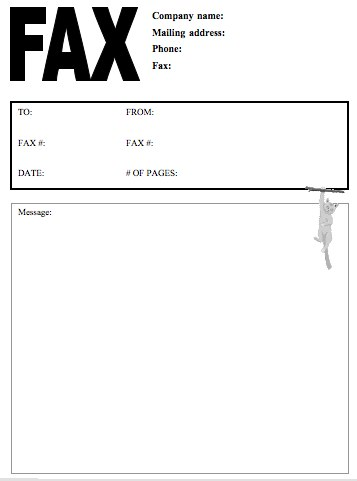 Sample Creative Fax Cover Page Templates