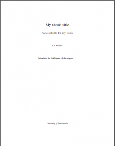 Sample Title Sample Title page template