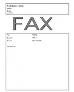 Big Printable Sample Simple Fax Cover Page Templates