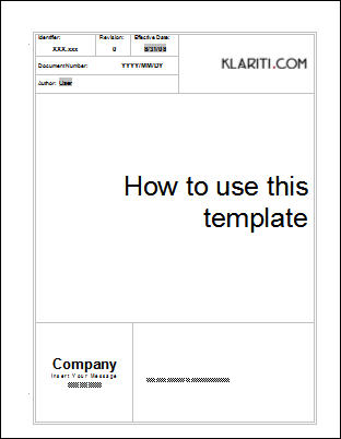 blank-Sample Cover Page Template