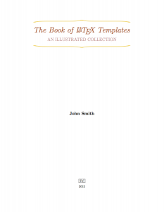 blank Sample Title page template