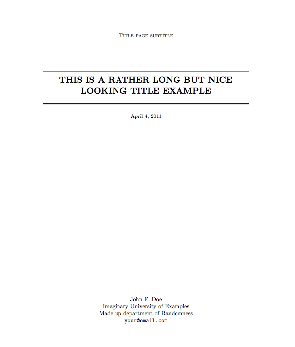 sample title page