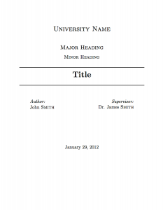 new PDF Sample Title page template