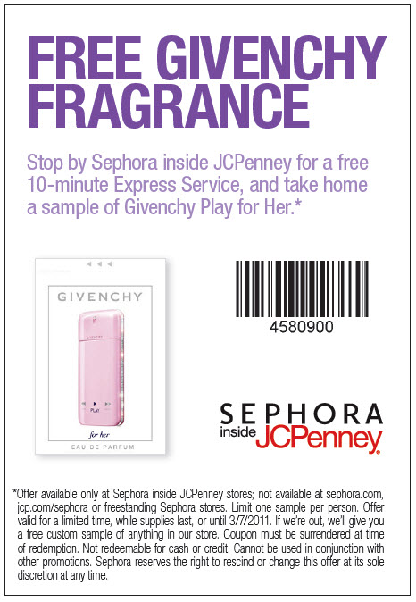 perfumes for women coupon samples JCPenny_Coupon