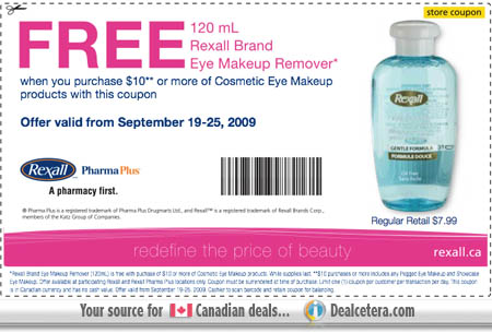 Printable coupons beauty products