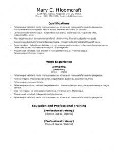 sample-template-resume-Vocational