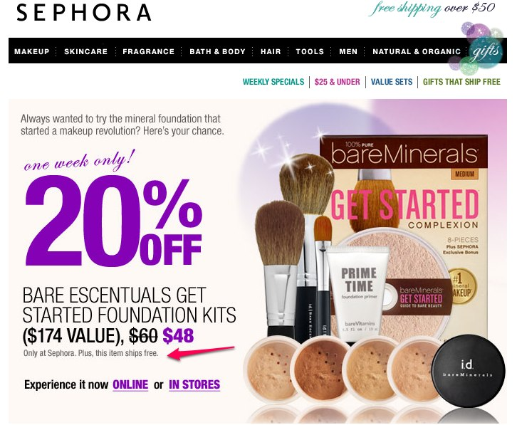 sephora-finally-sample-the-bare-escentuals-foundation-kit-foundation makeup samples and coupons