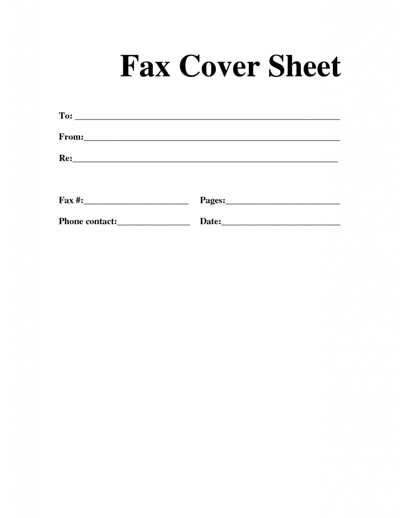 Sheet Sample Simple Fax Cover Page Templates