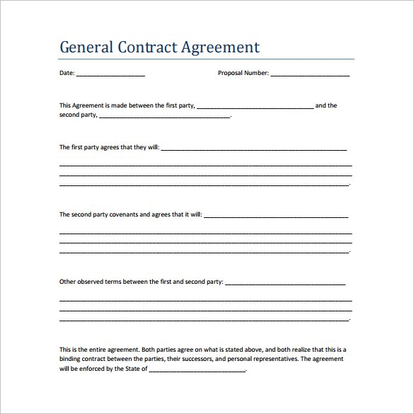 New formatted agreement templates samples and templates for Contrat contractor