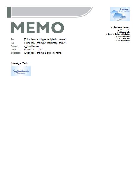 download memo