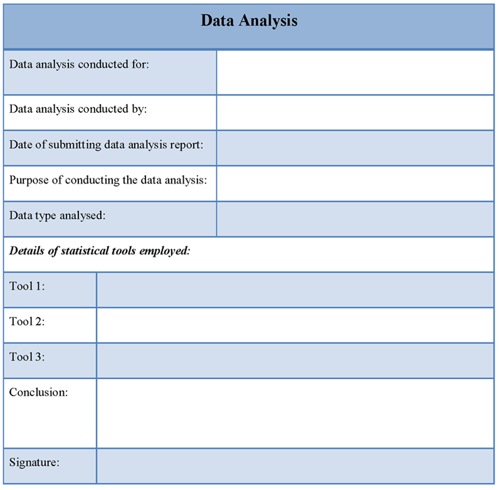 Analysis templates and samples samples and templates for Sample test data template