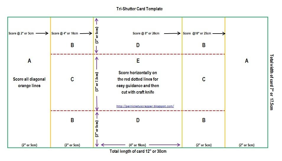 Tri-shutter Card Template