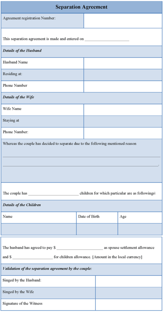 free-editable-Separation-Agreement-Template