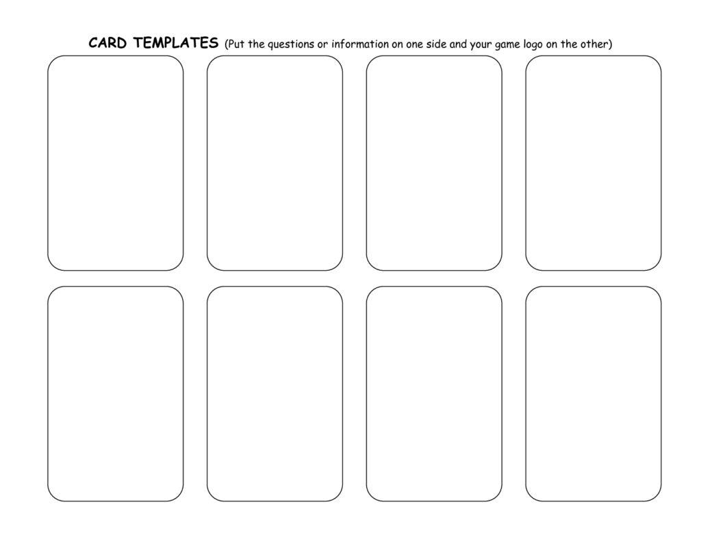 Card templates samples and templates for Planning poker cards template