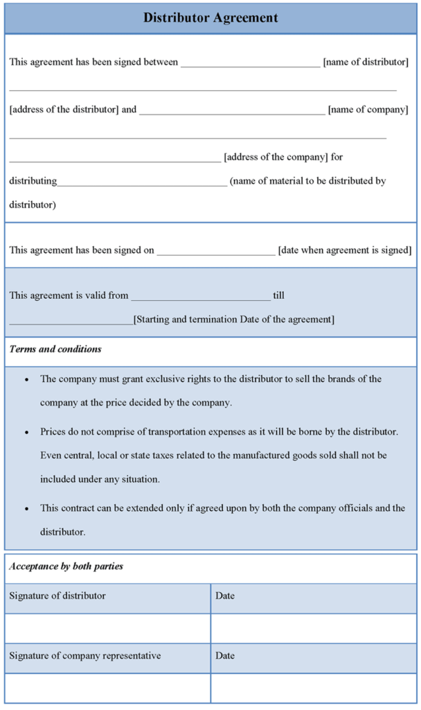 samples-Distributor-Agreement-Template