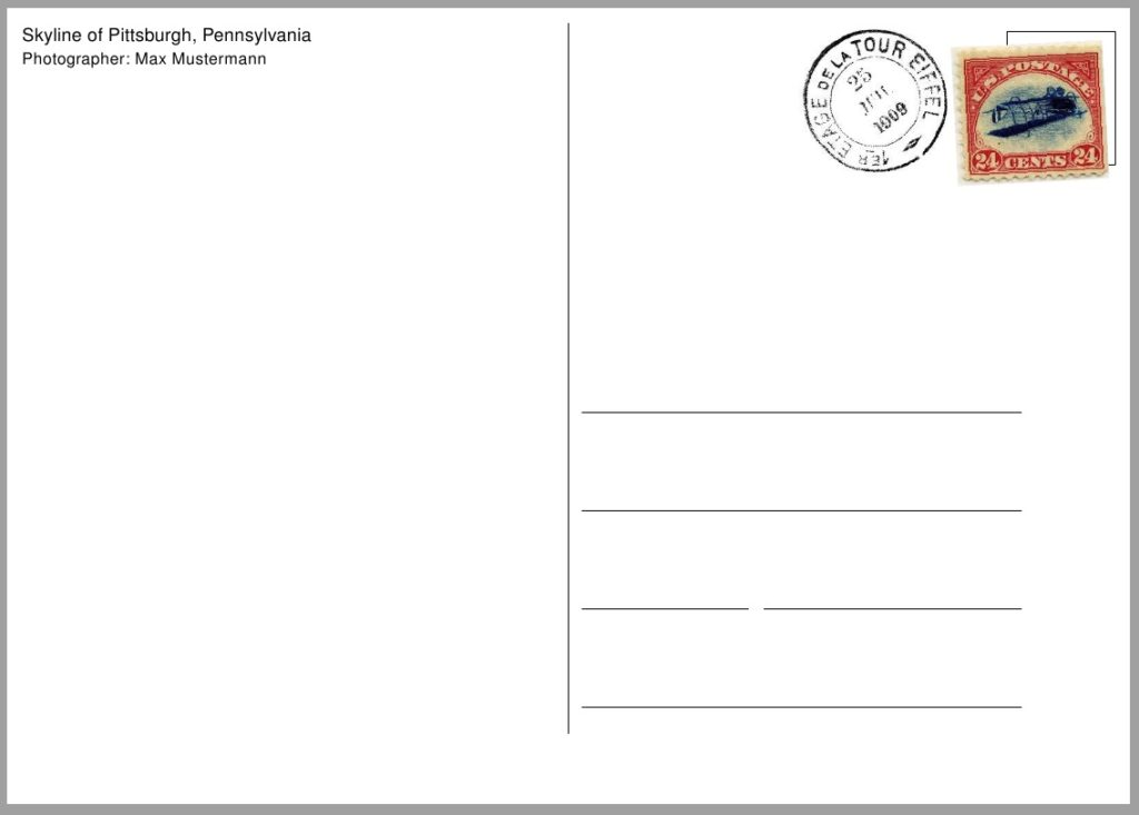 Post card template samples and templates for Postcard template for pages