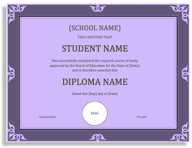 degree template