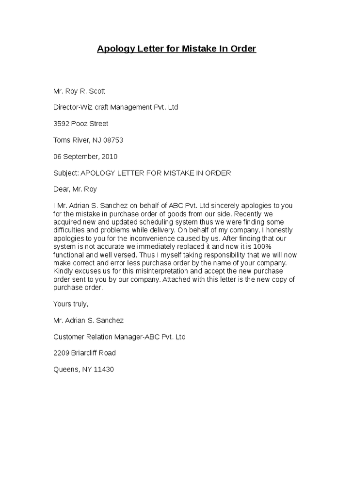 Doc25533692 Apology Letter Sample to Boss Apology Letter to – Sample Apology Letter to Teacher