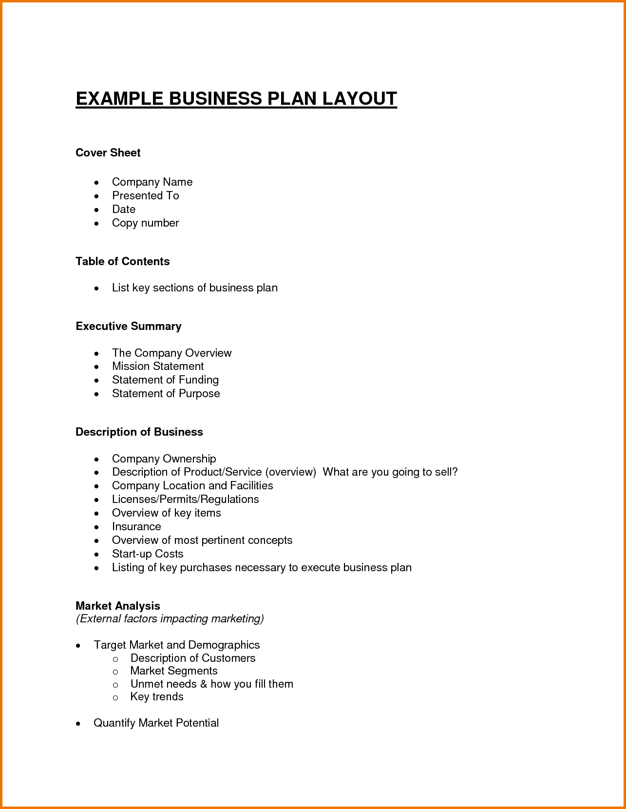 Business plan format necmgisk business plan format madrichimfo Gallery