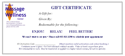 Wording For Gift Certificates  Certificate Sayings