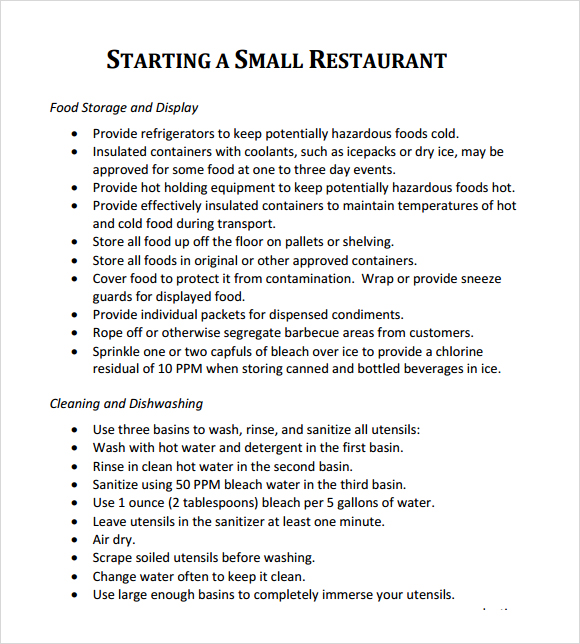 Budget For Restaurant Business Plan