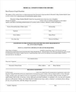 Medical consent form for minors template altavistaventures Images