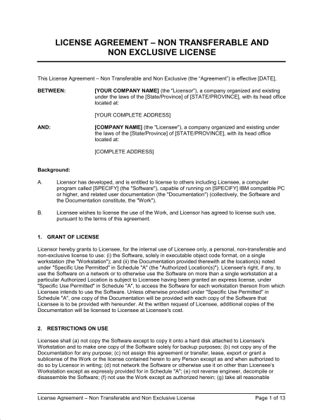 doc-Business Licensing Requirements Document Templates