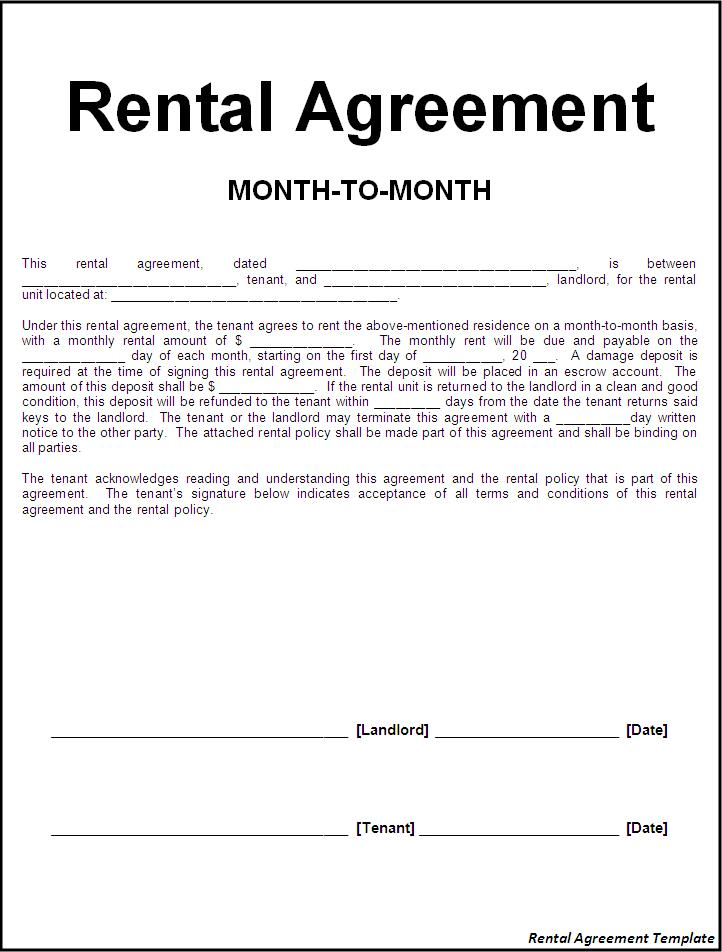 template-form-free-rental-agreement-template