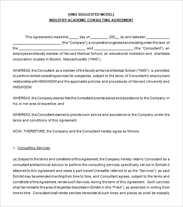 Academic-Consulting-Agreement-Sample-Download