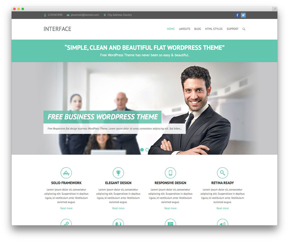 Popular wordpress themes samples and templates interface best business theme template nictitate best wordpress themes free accmission Image collections