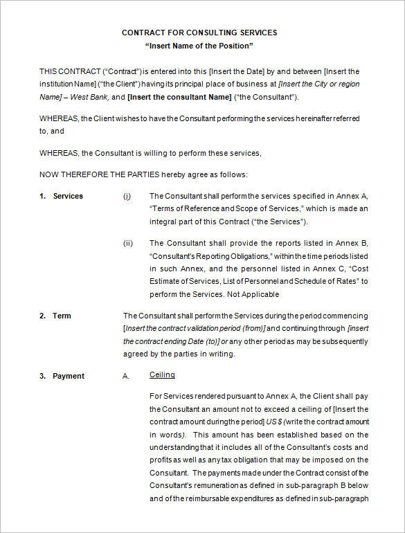 25 Consulting Agreement Samples