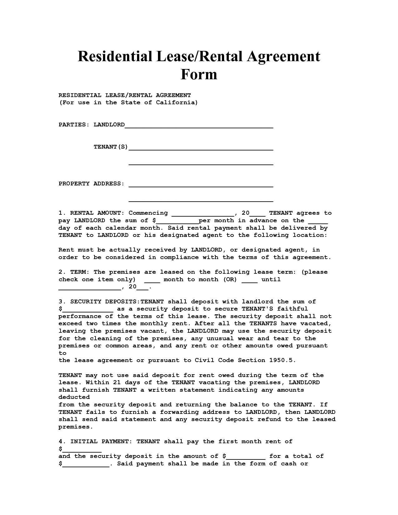 Elegant Samples And Templates In Lease Rent Agreement Format