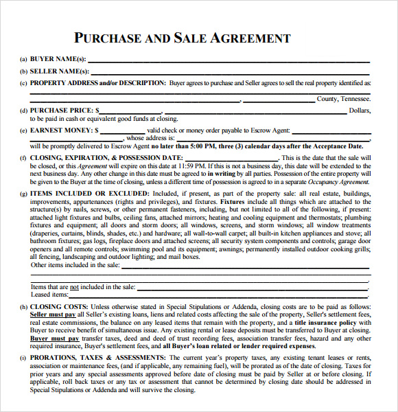 Real Estate Agreements  Samples And Templates