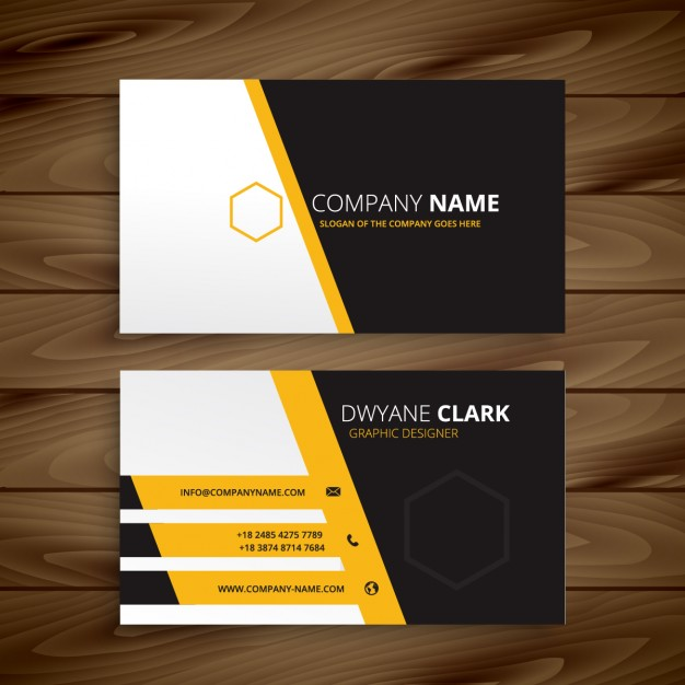 Modern business card templateyellow black for Modern business cards templates
