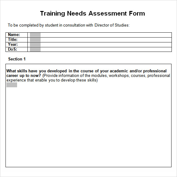 7 Sample Training Assessments | Samples And Templates