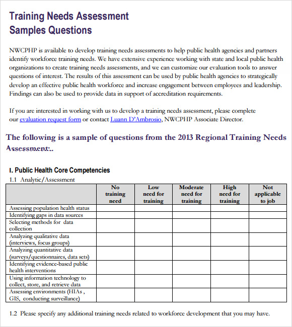 Trainer Evaluation Template. Printable-Doc-Training-Needs