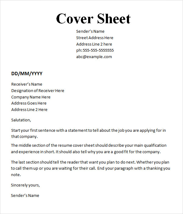 Essay Cover Sheet Templates  Samples And Templates
