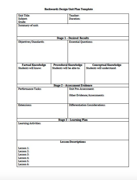 Lesson Plan Layouts  Template
