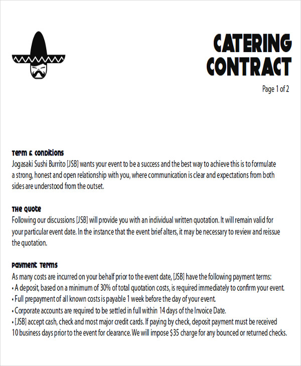 CateringContractProposalLetter