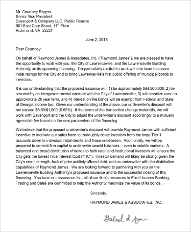 Fee Proposal Letter Example