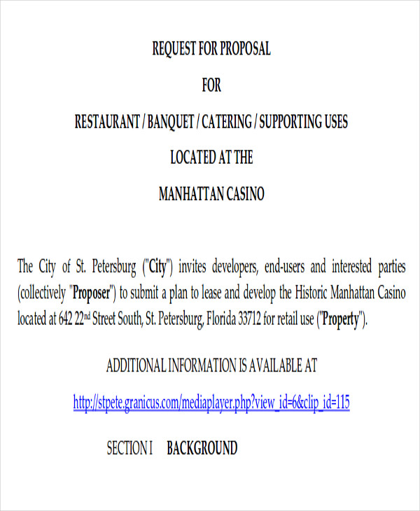 Catering Proposal Template The 25 Best Proposal Letter Ideas On – Sample Proposal Letter