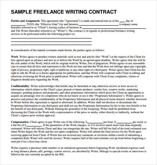 lance writing proposal template