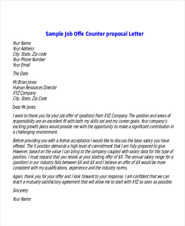 Job offer counter proposal letter spiritdancerdesigns