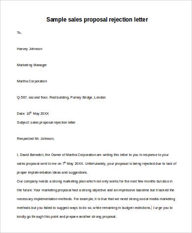 Sales proposal rejection letter1 spiritdancerdesigns Images