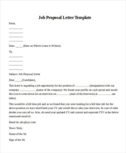 Samples And Templates Formated  Job Proposal Letter