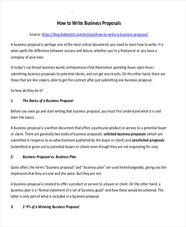 Writing Business Proposal Business Proposal Writing What To Write – Formal Proposal Example